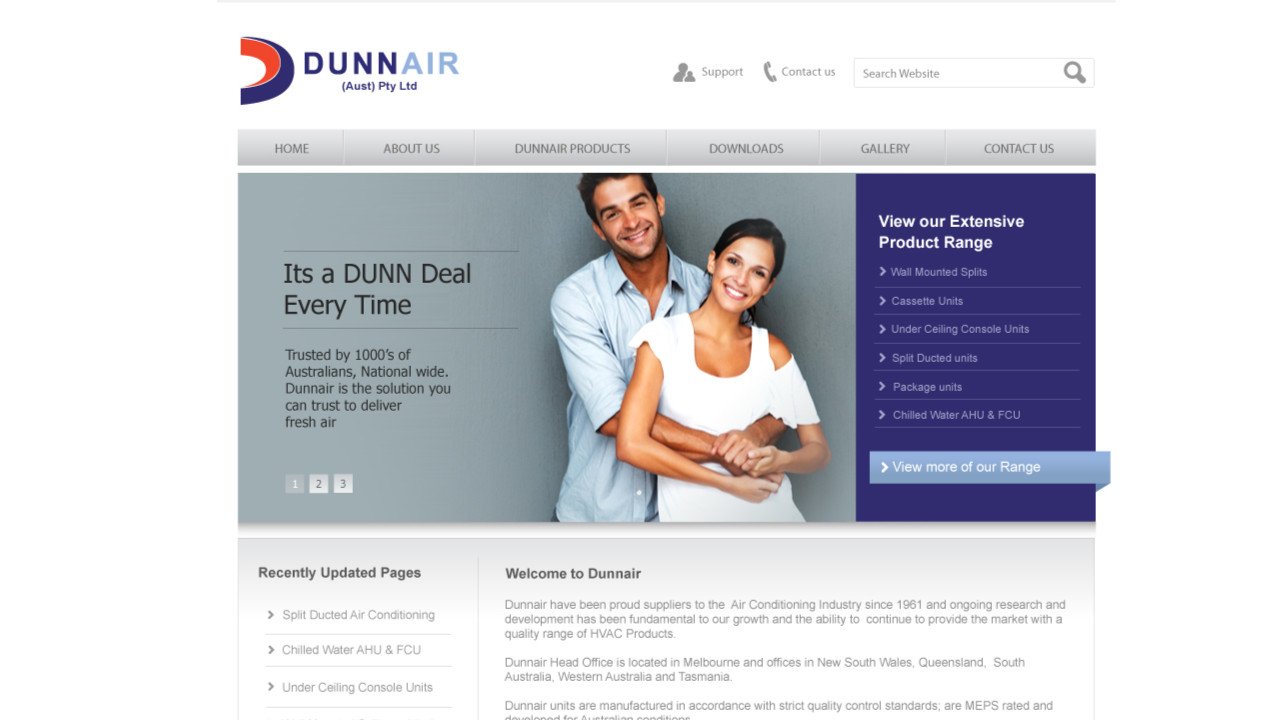 DunnAir web project